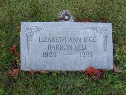 Lizabeth Ann <i>Rice</i> Barron Self