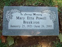 Mary Etta <i>Powell</i> Breakiron