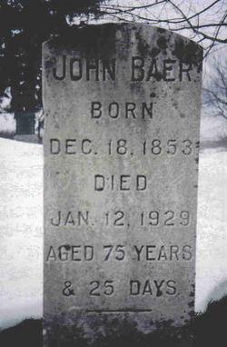 John Wismer Baer