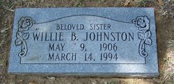 Willie B Johnston