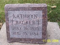 Kathryn <i>Hoffmann</i> Backer