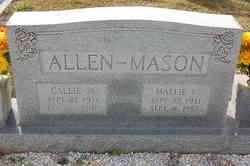 Callie <i>Mason</i> Allen