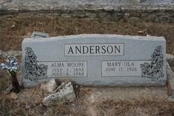 Alma Moore Anderson