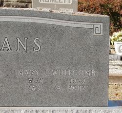 Mary J. <i>Whitcomb</i> Evans