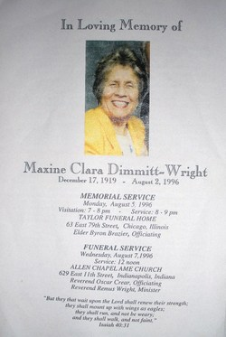 Maxine Clara <i>Dimmitt</i> Wright