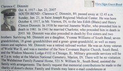 Sgt Clarence Clifford Dimmitt