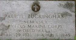 Pvt Paul L. Buckingham