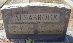 Mary Oleeta <i>Rawls</i> Alsabrook