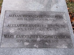 Alexander Randall Cheston, Sr