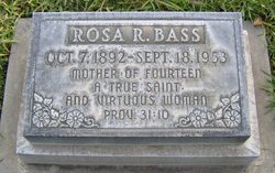 Rosa Rebecca <i>Porter</i> Bass