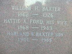 Hattie A <i>Ford</i> Baxter