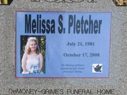 Melissa Sue <i>Coe</i> Pletcher