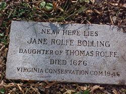 Jane <i>Rolfe</i> Bolling
