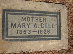 Mary Aldanima <i>Curtis</i> Cole