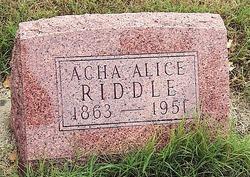 Acha Alice Riddle