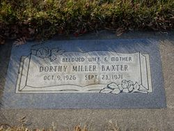 Dorothy Joyce <i>Miller</i> Baxter