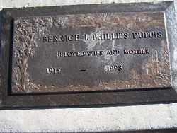 Bernice I <i>Phillips</i> DuPuis