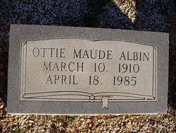 Ottie Maude <i>Lassetter</i> Albin