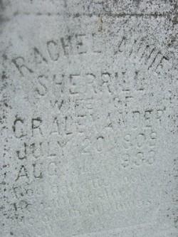 Rachel Annie <i>Sherrill</i> Alexander