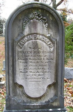 Lavinia Randolph <i>Heth</i> Harrison