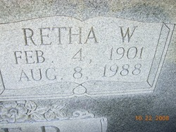 Mary Retha <i>Woodruff</i> Spicer