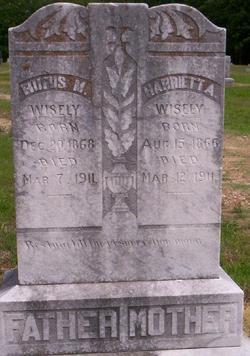 Harriett Ann <i>Steele</i> Wisely