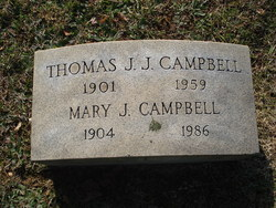 Mary J <i>Johnson</i> Campbell