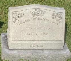 Martha Virginia <i>Thornton</i> Gray