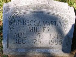 Rebecca <i>Martin</i> Miller