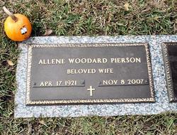 Allene <i>Woodard</i> Pierson