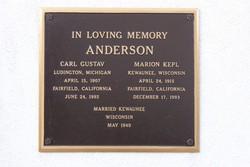 Marion <i>Kepl</i> Anderson