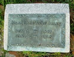 Anna Louise Mittie <i>Ward</i> Allen