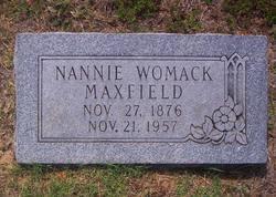 Nannie <i>Womack</i> Maxfield