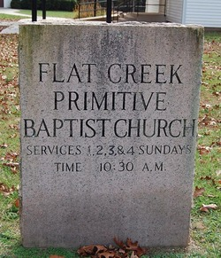 Flat Creek Primitive Baptist Church Cemetery