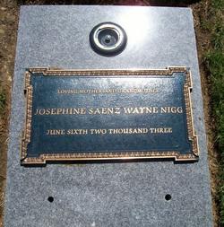 Josephine Alicia Josie <i>Saenz</i> Wayne