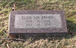 Susie <i>Nix</i> Brown
