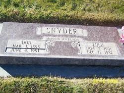 Lulu <i>Rogers</i> Snyder