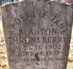 Ardealie Jane <i>Blanton</i> Throneberry