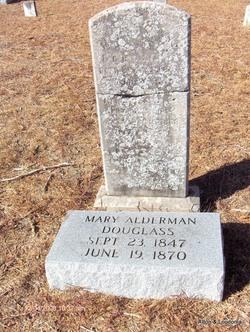 Mary Ann <i>Alderman</i> Douglas