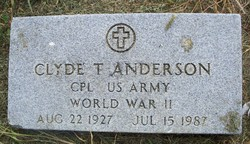 Corp Clyde Thomas Anderson