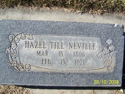 Hazel <i>Till</i> NeVille