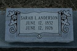 Sarah L. <i>Morgan</i> Anderson