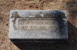 Leah <i>Snyder</i> Moore