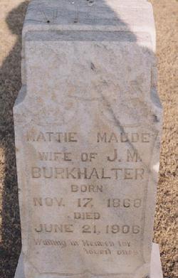 Mattie Maude <i>Cowart</i> Burkhalter