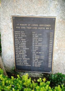Carmel CA WWII Memorial