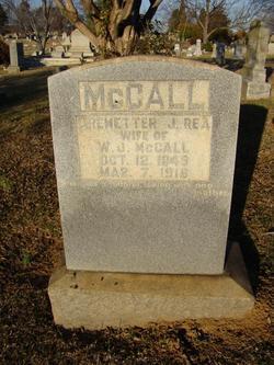 Aremetter J <i>Rea</i> McCall