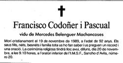 Francisco Codo�er Pascual