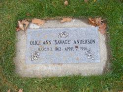 Olice Ann <i>Bayless</i> Anderson