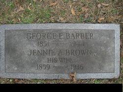 Jennie A. <i>Brown</i> Barber
