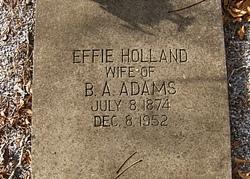 Effie <i>Holland</i> Adams